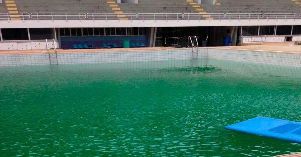 A água verde do Júlio Delamare